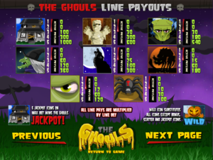 the-ghouls-slot-paytable